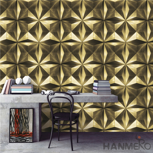 HANMERO 0.53*10M Removable Geometric Deep Embossed Modern TV Background PVC wallpaper background