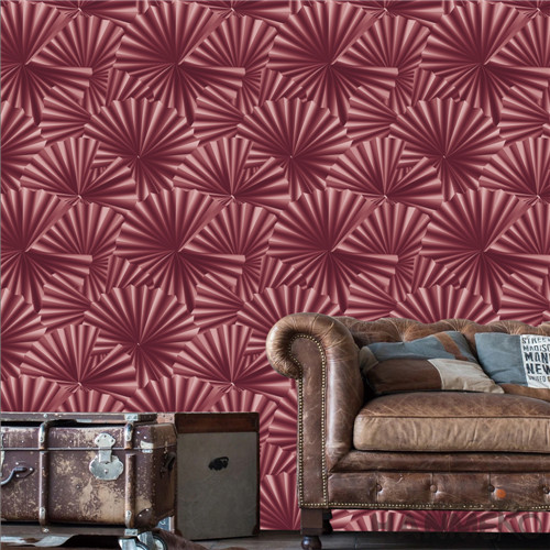 HANMERO PVC 0.53*10M Geometric Deep Embossed Modern TV Background Removable vinyl wallpaper