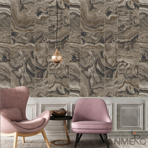HANMERO PVC Removable Geometric Deep Embossed 0.53*10M TV Background Modern wallpaper in home