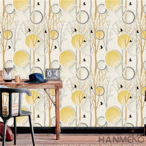 HANMERO TV Background Removable Geometric Deep Embossed Modern PVC 0.53*10M wallpaper room design