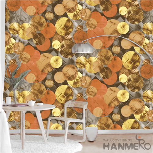 HANMERO PVC Removable TV Background Deep Embossed Modern Geometric 0.53*10M wallpaper wallcoverings