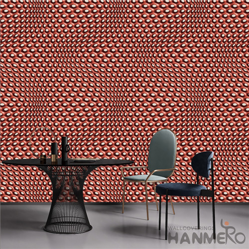 HANMERO PVC Removable Geometric TV Background Modern Deep Embossed 0.53*10M contemporary wallpaper for home