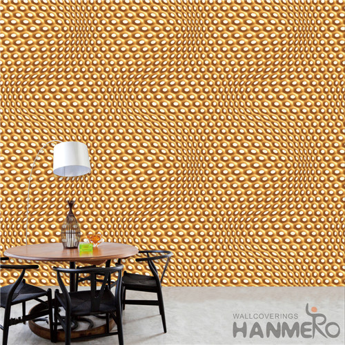 HANMERO PVC Removable Geometric Deep Embossed TV Background Modern 0.53*10M wallpaper outlet online