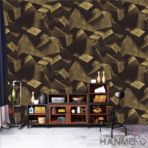 HANMERO Modern Removable Geometric Deep Embossed PVC TV Background 0.53*10M wallpaper retail stores