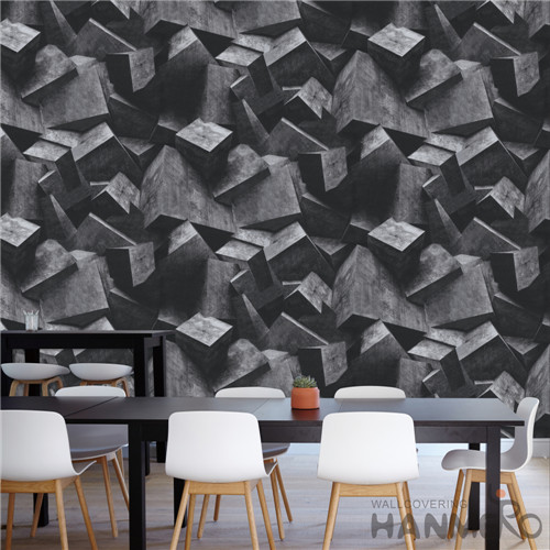 HANMERO PVC Modern Geometric Deep Embossed Removable TV Background 0.53*10M buy temporary wallpaper