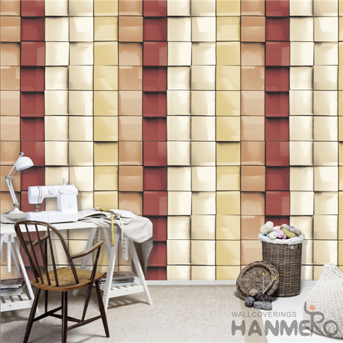 HANMERO PVC Removable Modern Deep Embossed Geometric TV Background 0.53*10M home wallpaper collection