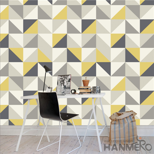 HANMERO Deep Embossed Removable Geometric PVC Modern TV Background 0.53*10M buy bedroom wallpaper