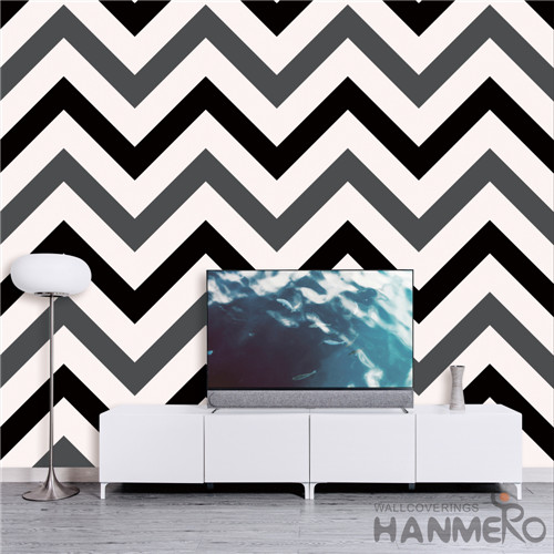 HANMERO Geometric Removable PVC Deep Embossed Modern TV Background 0.53*10M wallpapers room walls