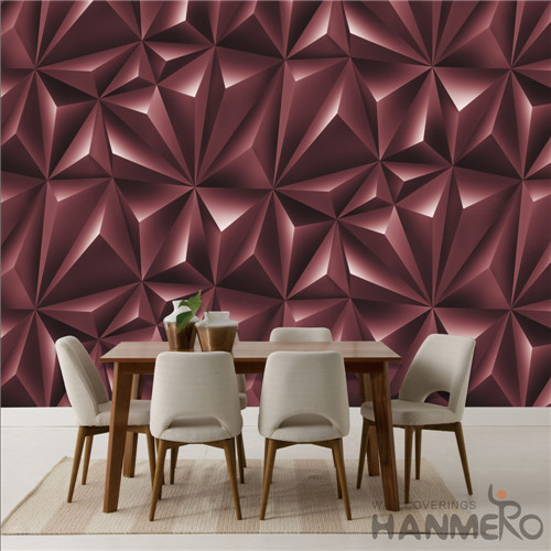 HANMERO 0.53*10M the room wallpaper Geometric Deep Embossed Modern TV Background Removable PVC