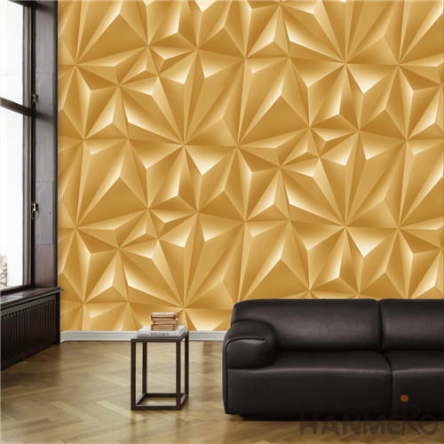 HANMERO Removable 0.53*10M high resolution wallpaper Deep Embossed Modern TV Background PVC Geometric