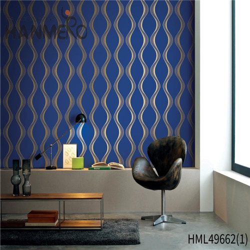 HANMERO PVC 0.53*10M Geometric Bronzing Pastoral Living Room Professional wallpaper for office walls