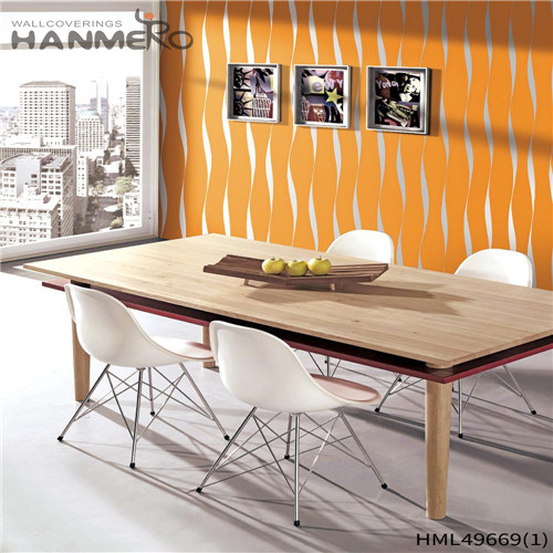 HANMERO PVC Professional Geometric 0.53*10M Pastoral Living Room Bronzing wallpaper in home decor