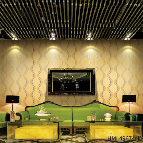 HANMERO PVC Professional Geometric Bronzing Pastoral 0.53*10M Living Room wallpapers decorate walls