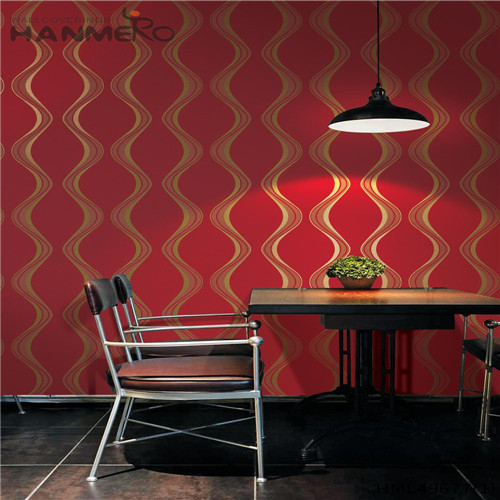 HANMERO Living Room Professional Geometric Bronzing Pastoral PVC 0.53*10M where can i get wallpaper