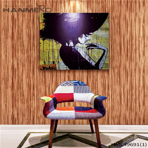 HANMERO PVC Professional Geometric Bronzing Living Room Pastoral 0.53*10M wall decoration paper design
