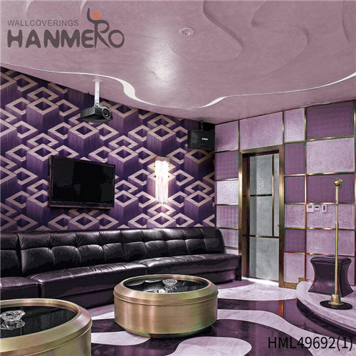 HANMERO Pastoral Professional Geometric Bronzing PVC Living Room 0.53*10M wall with wallpaper