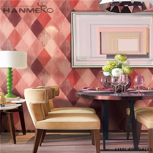 HANMERO PVC Professional Pastoral Bronzing Geometric Living Room 0.53*10M custom home wallpaper