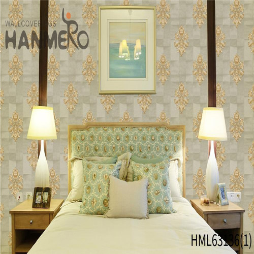 HANMERO wallpaper wall coverings Exporter Bamboo Deep Embossed Pastoral Household 0.53*10M PVC