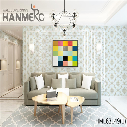 HANMERO PVC Exporter local wallpaper stores Deep Embossed Pastoral Household 0.53*10M Bamboo