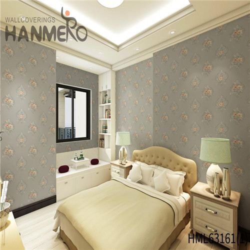 HANMERO PVC Exporter Bamboo Deep Embossed Pastoral fashion wallpaper for home 0.53*10M Household