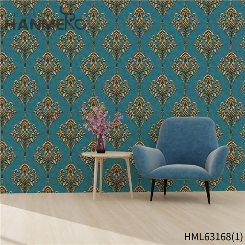 HANMERO PVC Exporter Bamboo Deep Embossed Pastoral Household wallpapers in home interiors 0.53*10M
