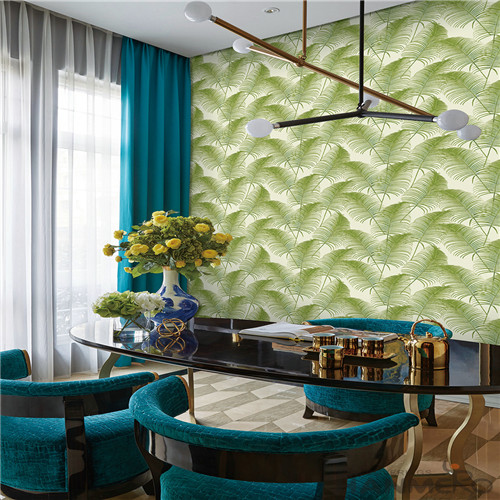HANMERO High Quality New Arrival Bedroom Household Non-woven Rainforest Green Leaves Wallpaper for Wall Decoration