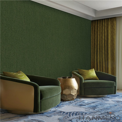 HANMERO Modern Simple Pure Color Non-woven Wallpaper with Unique Technology  Home Decoration CE Certificate