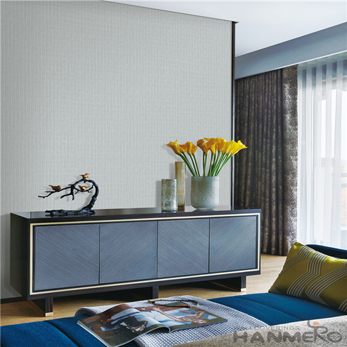 HANMERO New Fashion Grey Pure Color Non-woven Wallpaper With Unique Technology for Household Decoration from China