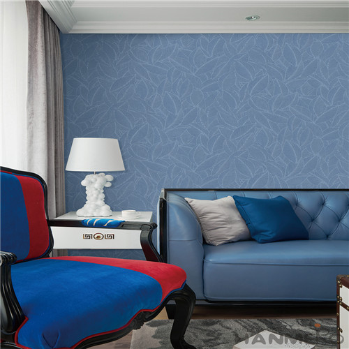 HANMERO High Quality Affordable Blue Leaves Pattern Wallpaper with Latest Designs for Household Decoration from Chinese Factory
