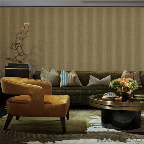 HANMERO Non-woven Wallpaper 0.53*10M Brown Color Chinese Wallcovering Vendor Modern Style for Room TV Sofa Background