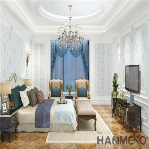 HANMERO where to buy wallpaper Professional Supplier Damask Deep Embossed Mediterranean Theatres 0.53M PVC