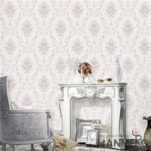 HANMERO PVC wallpaper wall Damask Deep Embossed Mediterranean Theatres 0.53M Professional Supplier