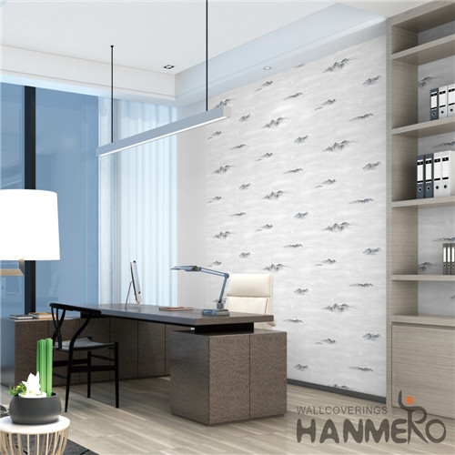 HANMERO PVC Professional Supplier wallpaper design for home Deep Embossed Mediterranean Theatres 0.53M Damask
