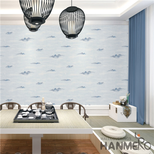 HANMERO PVC Professional Supplier Damask wallpaper for room walls Mediterranean Theatres 0.53M Deep Embossed