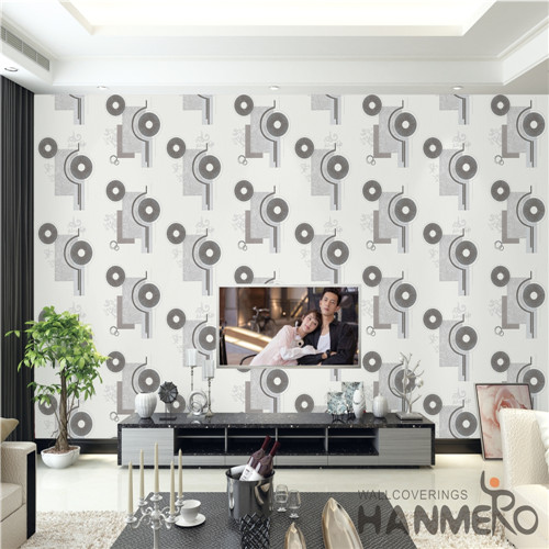 HANMERO PVC Professional Supplier Damask Deep Embossed removable wallpaper Theatres 0.53M Mediterranean