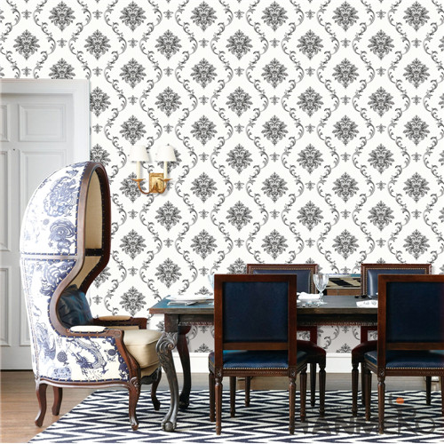 HANMERO PVC Professional Supplier Damask Deep Embossed Mediterranean Theatres wallpaper for your house 0.53M