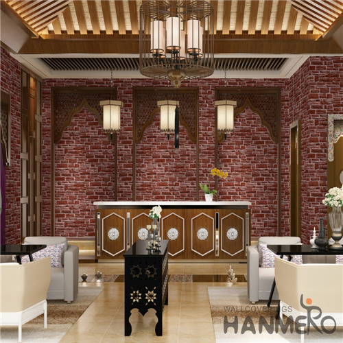 HANMERO PVC Professional Supplier 0.53M Deep Embossed Mediterranean Theatres Damask local wallpaper shops