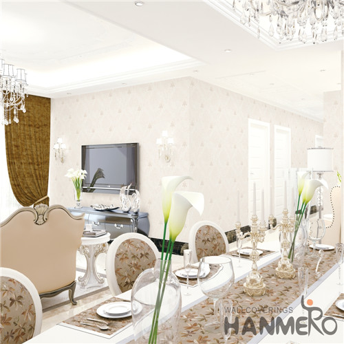 HANMERO PVC Professional Supplier Damask 0.53M Mediterranean Theatres Deep Embossed house decoration wallpaper