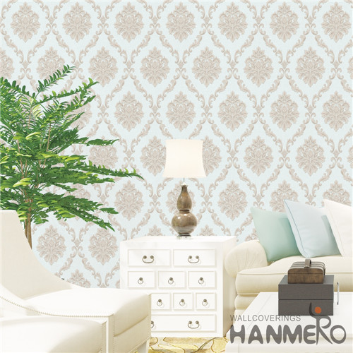 HANMERO PVC Theatres Damask Deep Embossed Mediterranean Professional Supplier 0.53M wallpapwe