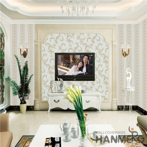 HANMERO PVC Professional Supplier Theatres Deep Embossed Mediterranean Damask 0.53M where buy wallpaper
