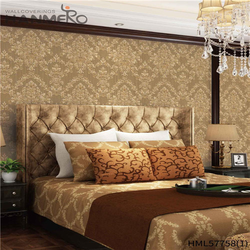 HANMERO PVC wallpaper in home decor Flowers Deep Embossed Pastoral Household 1.06*15.6M Hot Sex