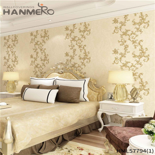 HANMERO PVC Hot Sex 1.06*15.6M Deep Embossed Pastoral Household Flowers interior wall wallpaper