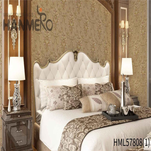 HANMERO PVC Hot Sex Flowers Deep Embossed 1.06*15.6M Household Pastoral black wallpaper design