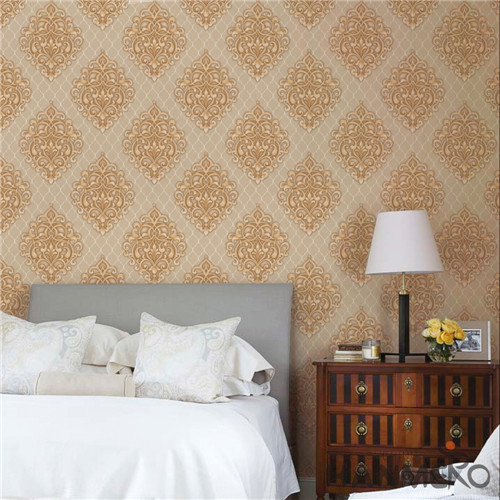 HANMERO PVC Hot Selling Flowers design wallpaper for walls Modern Saloon 0.53*10M Bronzing