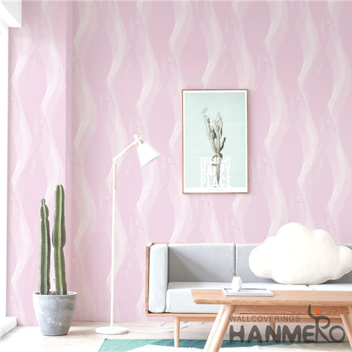 HANMERO PVC 0.53*10M Flowers Bronzing Modern Saloon Hot Selling wallpaper for home wall price