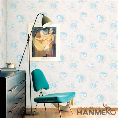 HANMERO Saloon Hot Selling Flowers Bronzing Modern PVC 0.53*10M interior wall wallpaper