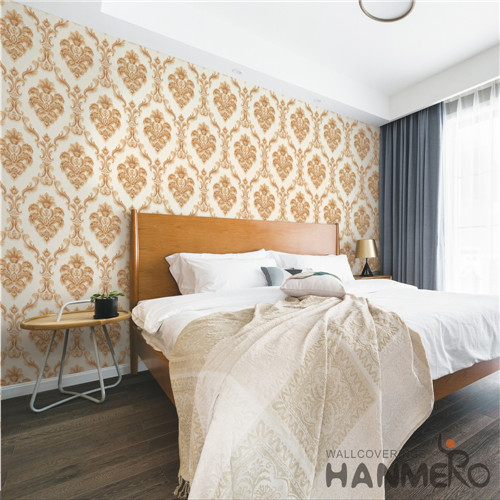 HANMERO PVC Saloon Flowers Bronzing Modern Hot Selling 0.53*10M the house wallpaper