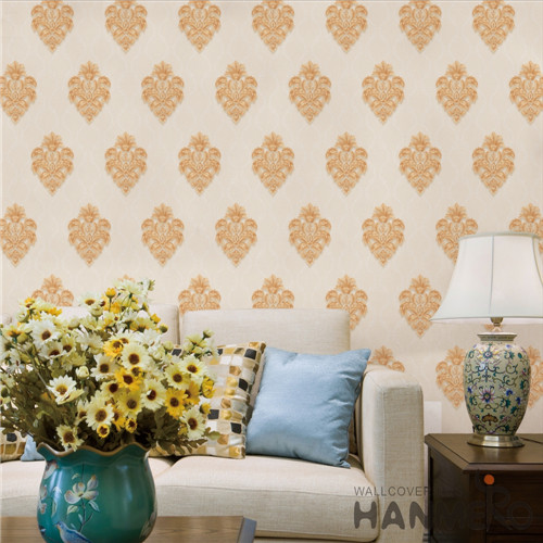 HANMERO PVC Hot Selling Saloon Bronzing Modern Flowers 0.53*10M cool wallpaper for home