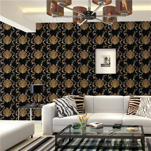 HANMERO PVC Fancy Flowers Bronzing European Saloon 0.53*10M wallpaper manufacturers