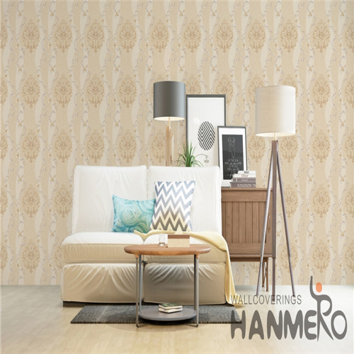 HANMERO PVC commercial wallpaper Flowers Bronzing European Saloon 0.53*10M Fancy